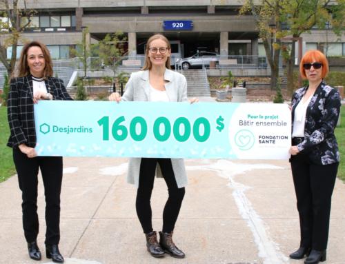 La Caisse Desjardins du Haut-Richelieu offre un don majeur de 160 000 $ pour le projet en santé mentale